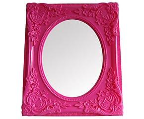 Espelho Urban Rococó Provençal Rosa Urban Brasil