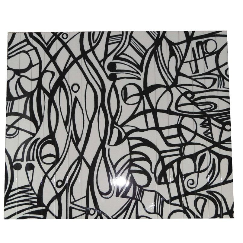 Esteira Estofado Estampada Sem Porta Copo Branco Abstrato Portal