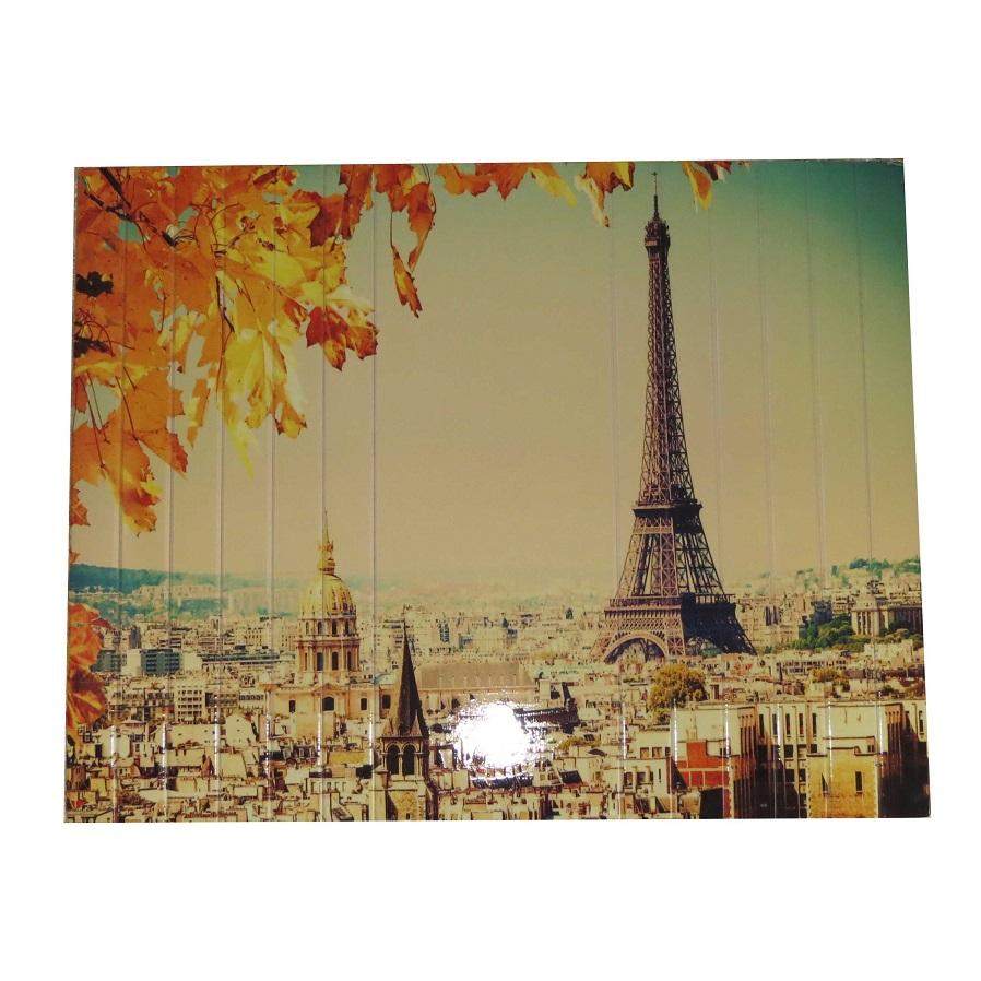 Esteira Estofado Estampada Sem Porta Copo Paris Torre Eiffel Portal