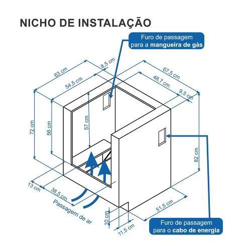Fogão a Gás Embutir Gaudí Prisma Vítreo 4Q Inox GLP Venax