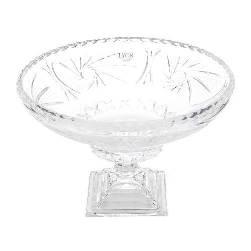 Fruteira Cristal com Pé Prima Luxo 32x21,5 Lyor
