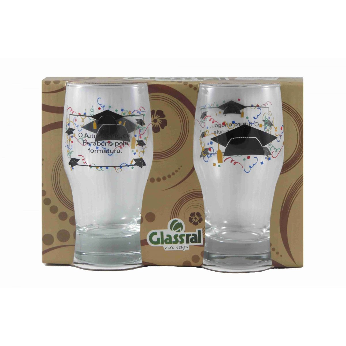 Jogo Copos Long Drink Formatura 420ml 02 pcs Glassral