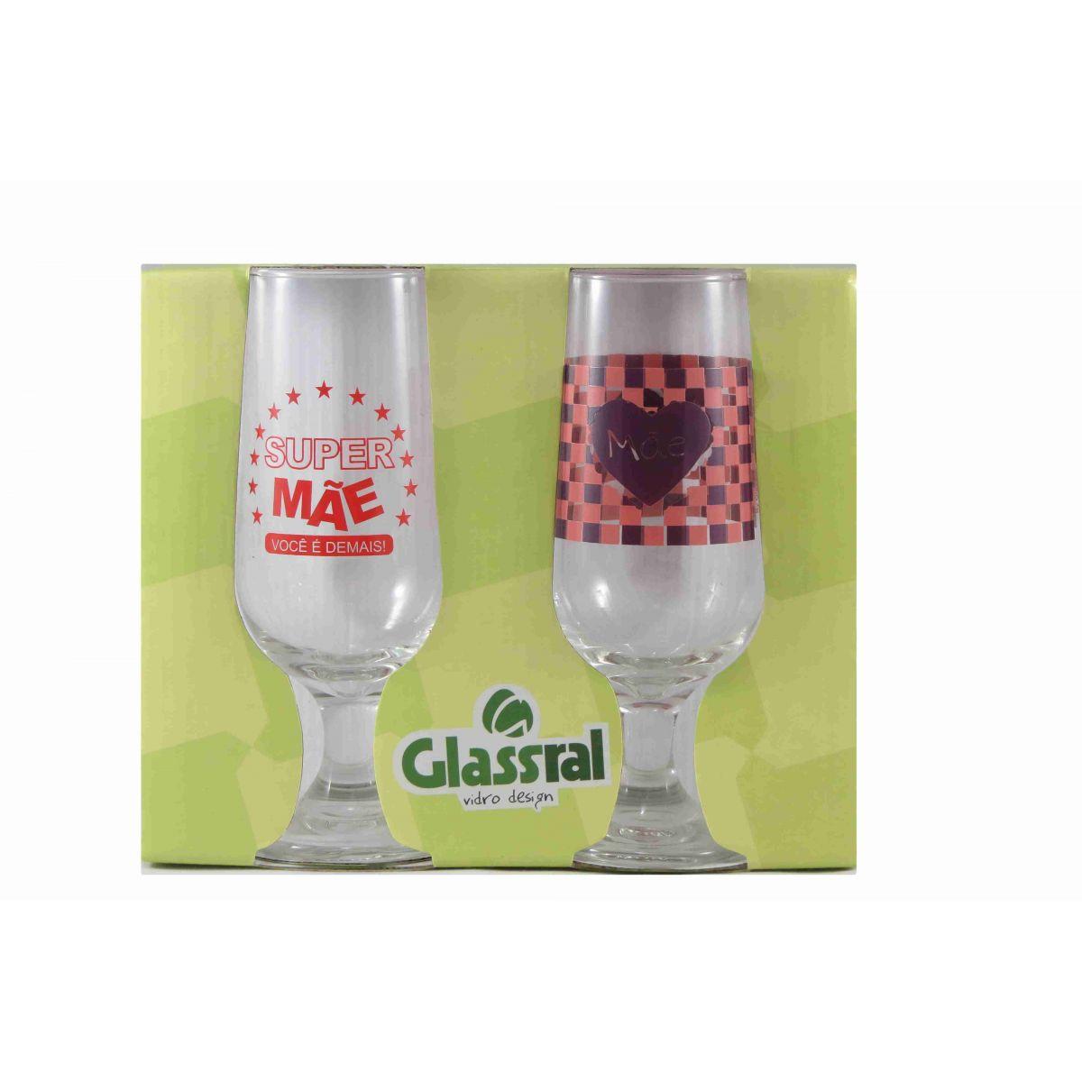 Jogo Taças 300ml Hannover Mãe 2 pcs Glassral