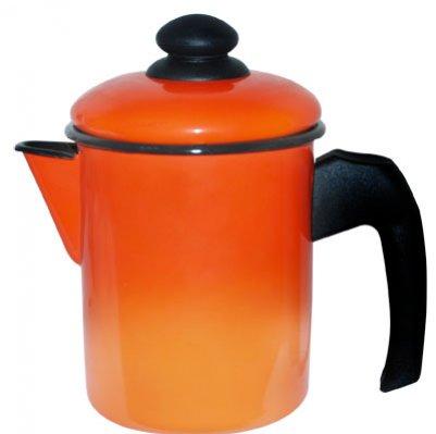 Leiteira Aço Esmaltado 16 1,8 litros Laranja Ewel