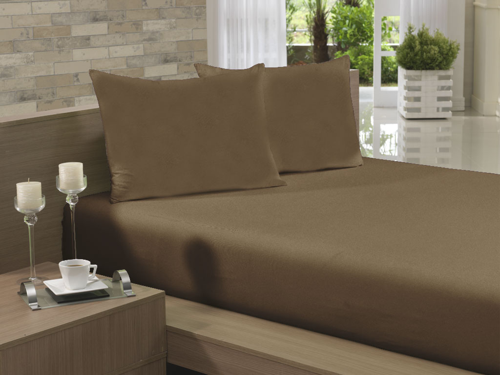 Lençol Avulso Casal 190x240 Chocolate Soft