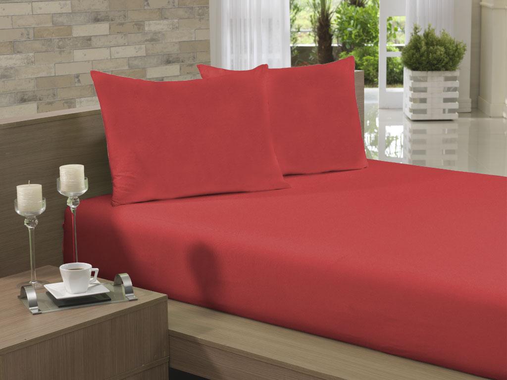 Lençol Avulso Casal 190x240 Vermelho Soft