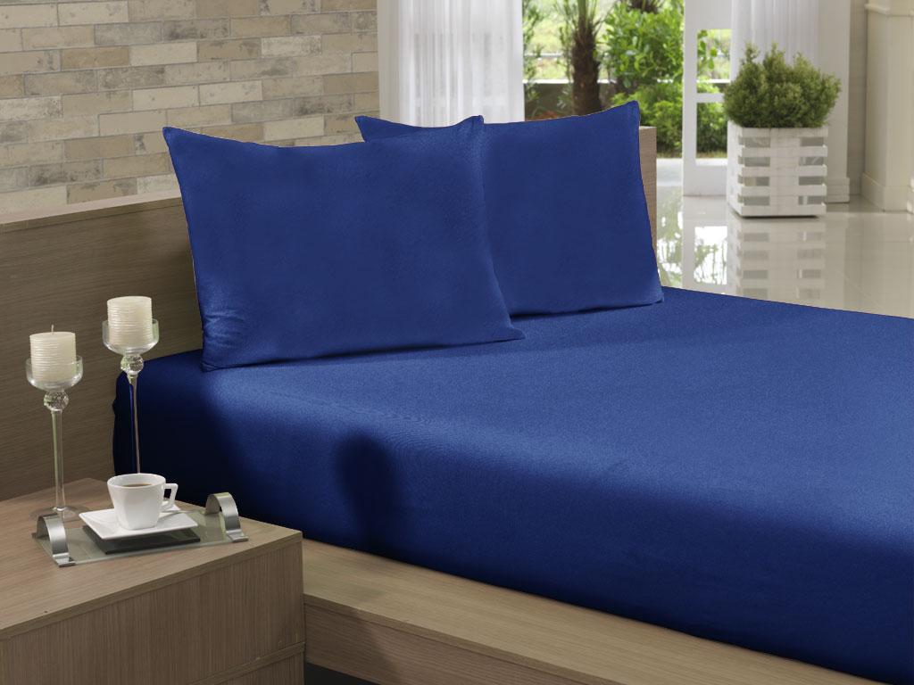 Lençol Avulso Casal Especial 210x260 Azul Jeans Soft