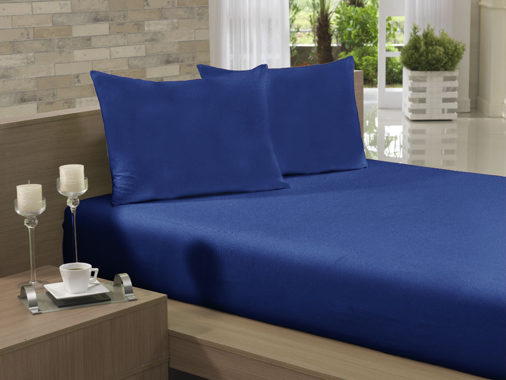 Lençol Avulso Kingsize Extra 280x290 Azul Marinho Soft