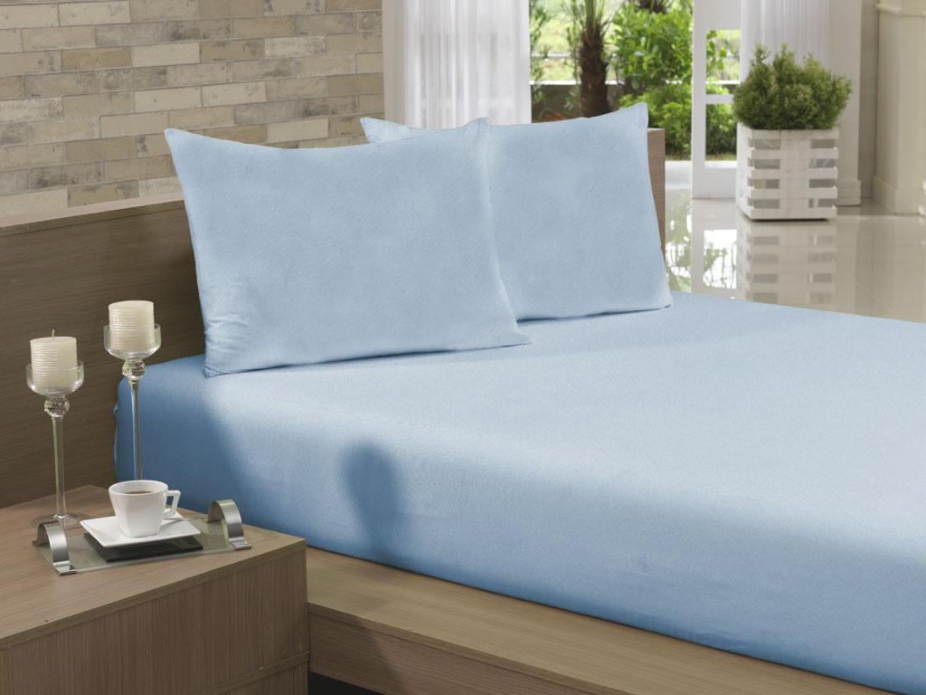 Lençol Avulso Queen 210x250 Azul Claro Soft