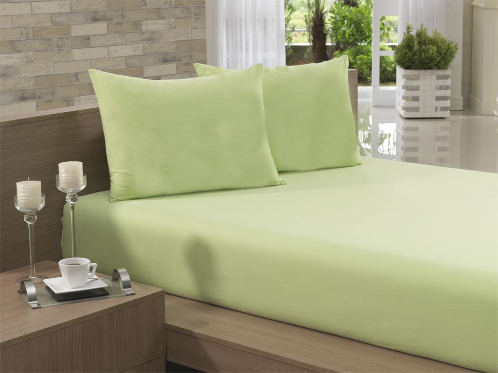 Lençol Avulso Solteiro 135x240 Verde Claro Soft