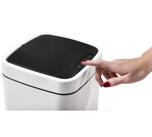 Lixeira 12L Branca Automatica com Sensor GhelPlus