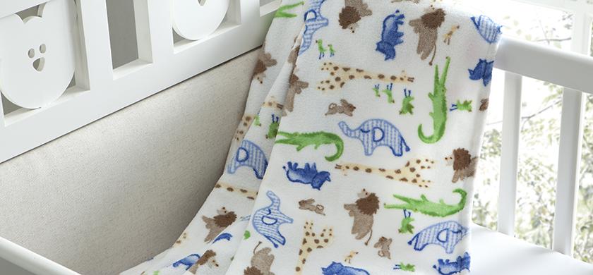Manta Microfibra Infantil 90x110cm Glorius Baby Estampa Carinhoso Corttex