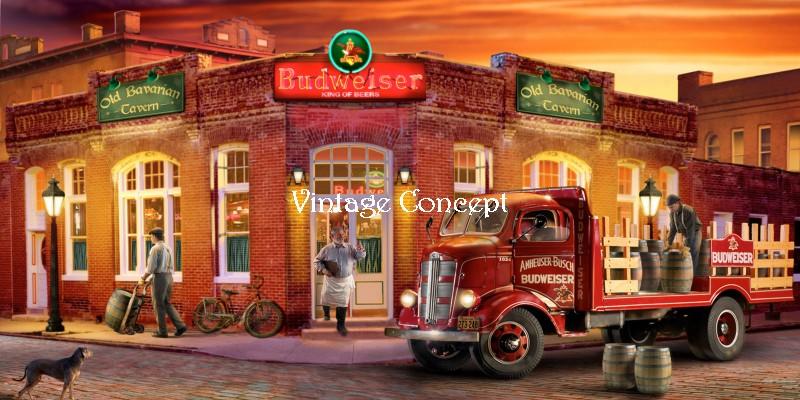 Mini Engradado Decorativo Madeira Bar Budweiser Vintage Concept