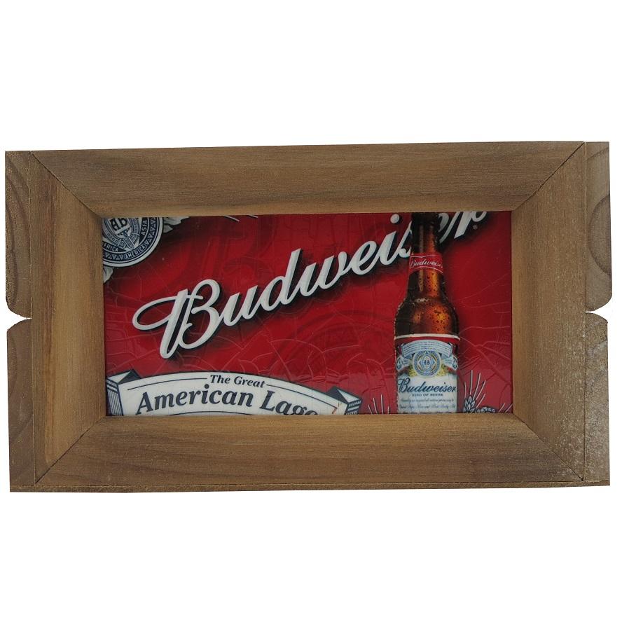 Mini Engradado Decorativo Madeira Budweiser Vintage Concept