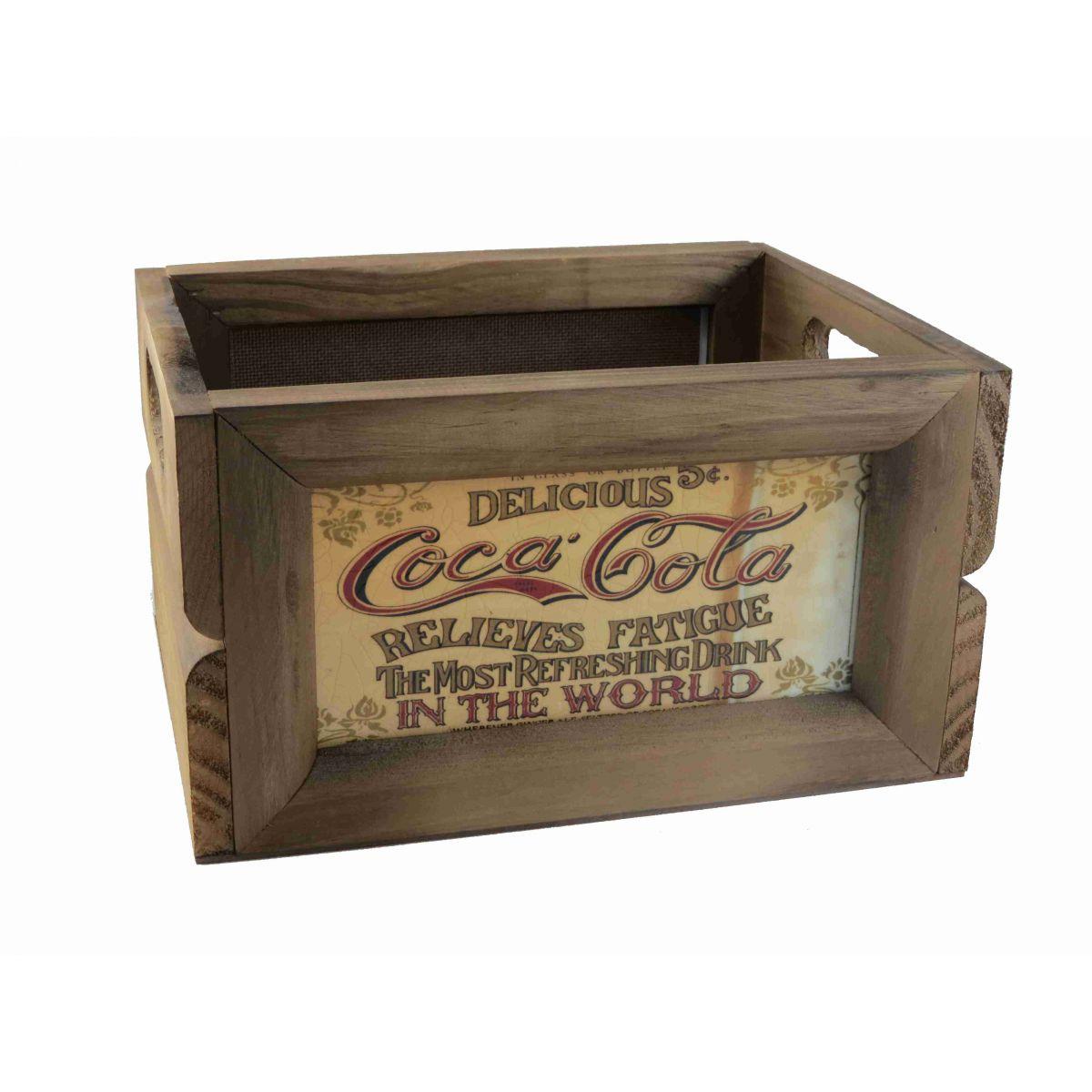 Mini Engradado Decorativo Madeira Delicious Coca Cola Vintage Concept