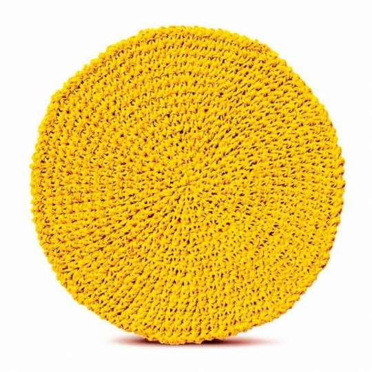 Peça Jogo Americano Organico Papier Amarelo Linha Tyft Yoi