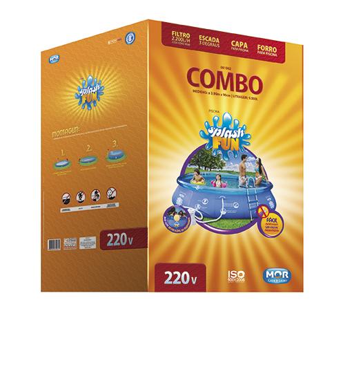 Piscina Inflável Combo 9000 Litros 220v Mor