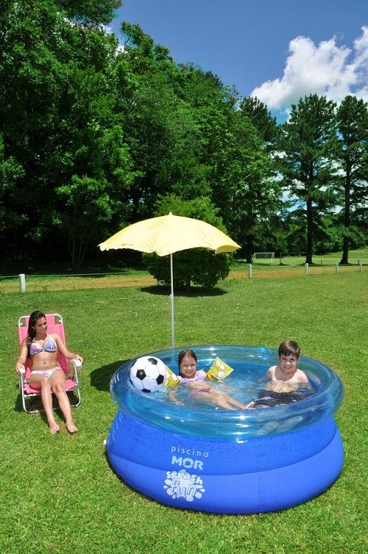 Piscina Inflável Splash Fun Ø1,80m x 63cm 1400 Litros Mor