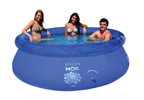 Piscina Inflável Splash Fun Ø2,40m x 63cm 2400 Litros Mor