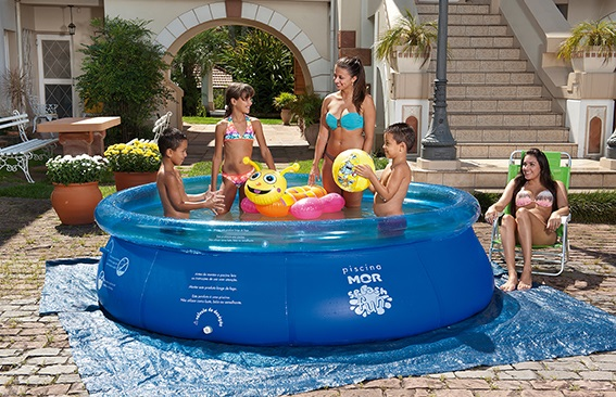 Piscina Inflável Splash Fun Ø2,70m x 70cm 3400 Litros Mor