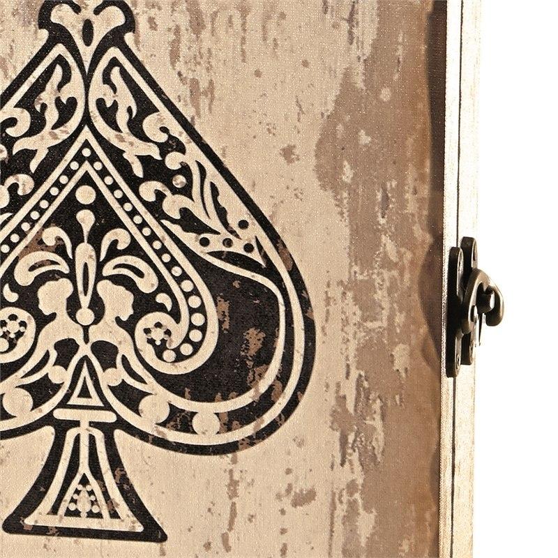 Porta Chaves 6 Ganchos Com Tampa Lounge Cartas Espadas Mart