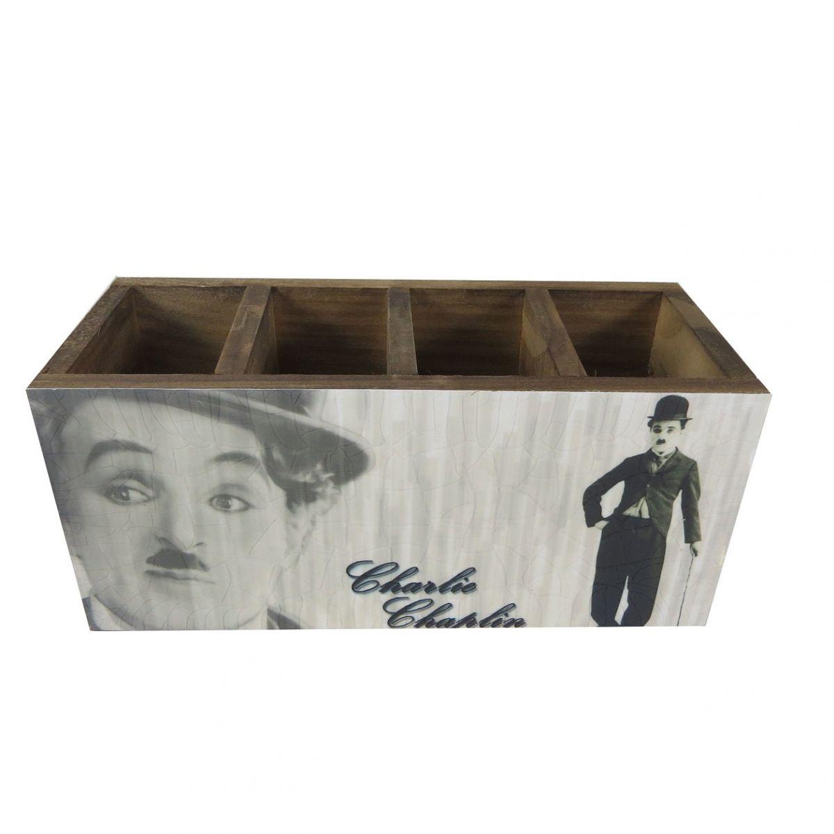 Porta Controle e Objetos Charles Chaplin Vintage Concept