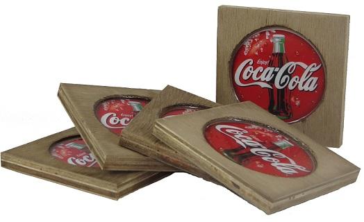 Porta Copos Coca Cola Vintage Concept
