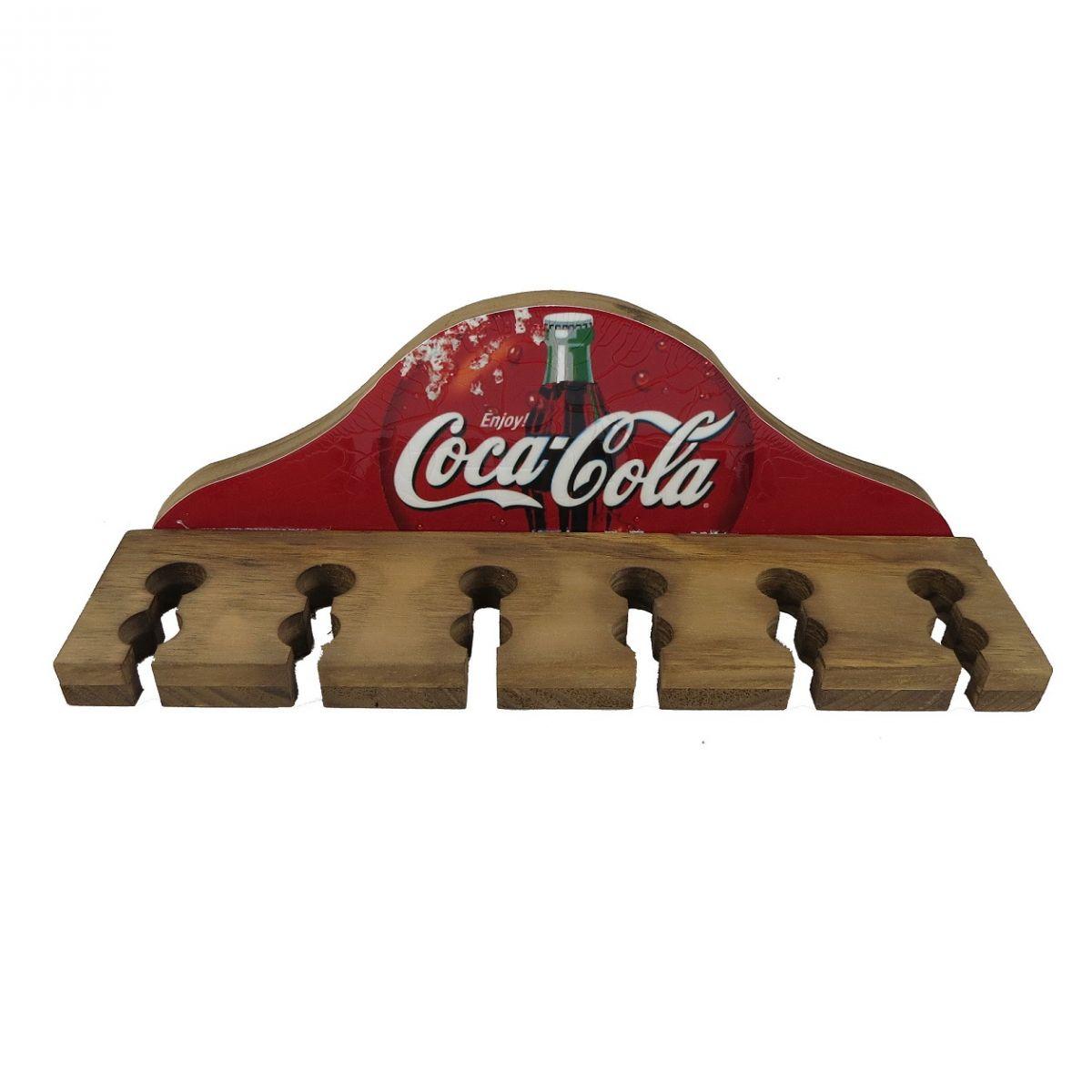 Porta Espetos Madeira Rústico Enjoy Coca Cola Vintage Concept