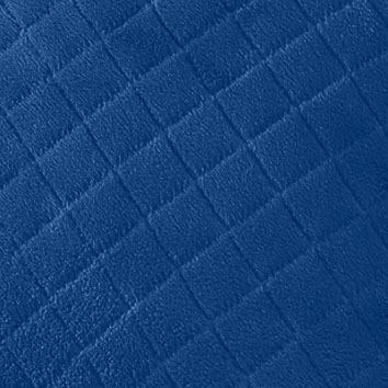 Porta Travesseiro Plush Matelassado 50x70 Azul Pavão Hedrons