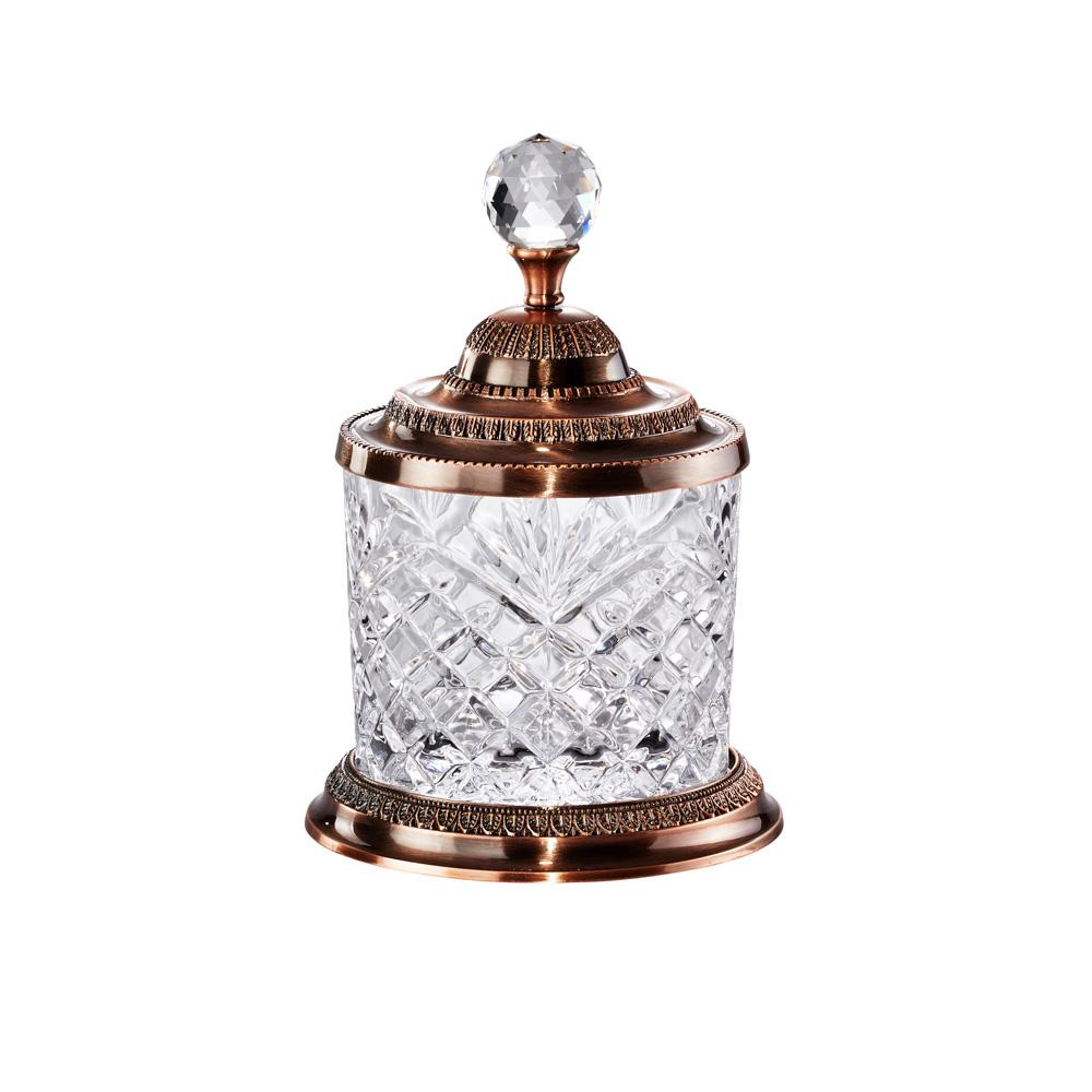 Pote Bronze Multiuso 18,6cm Cristal De Zamac Lyor