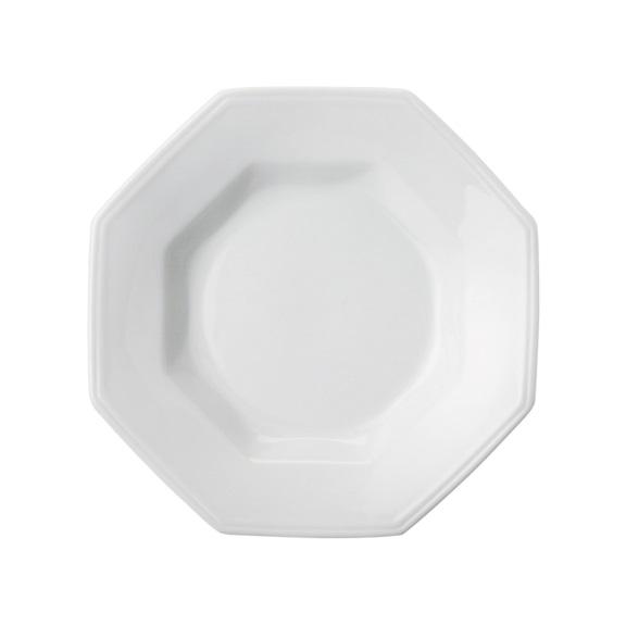 Prato Fundo 24cm Linha Prisma Branco Porcelana Schmidt