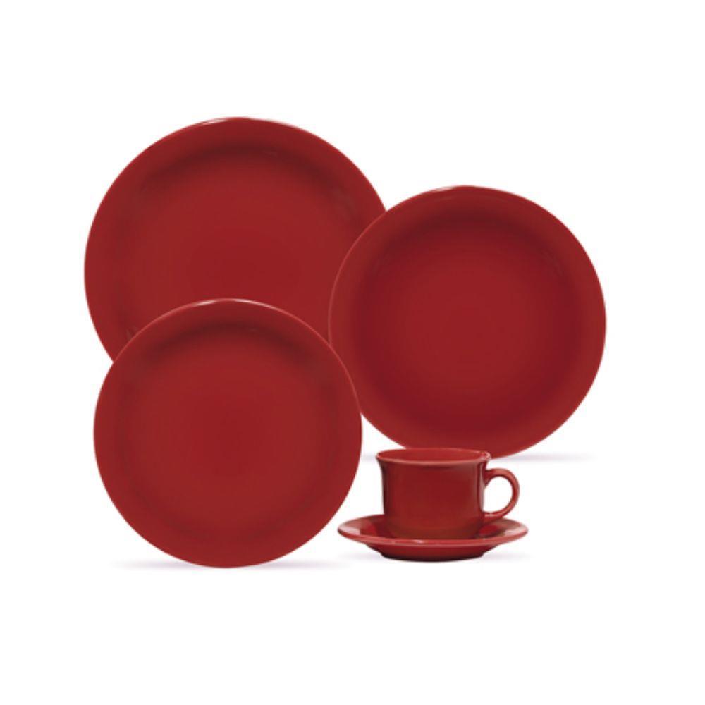 Prato Raso 26cm Daily Floreal Red Oxford