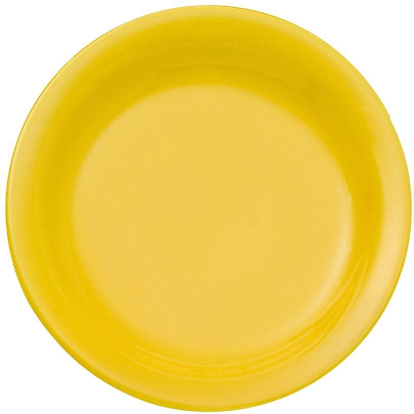 Prato Raso 26cm Daily Floreal Yellow Oxford