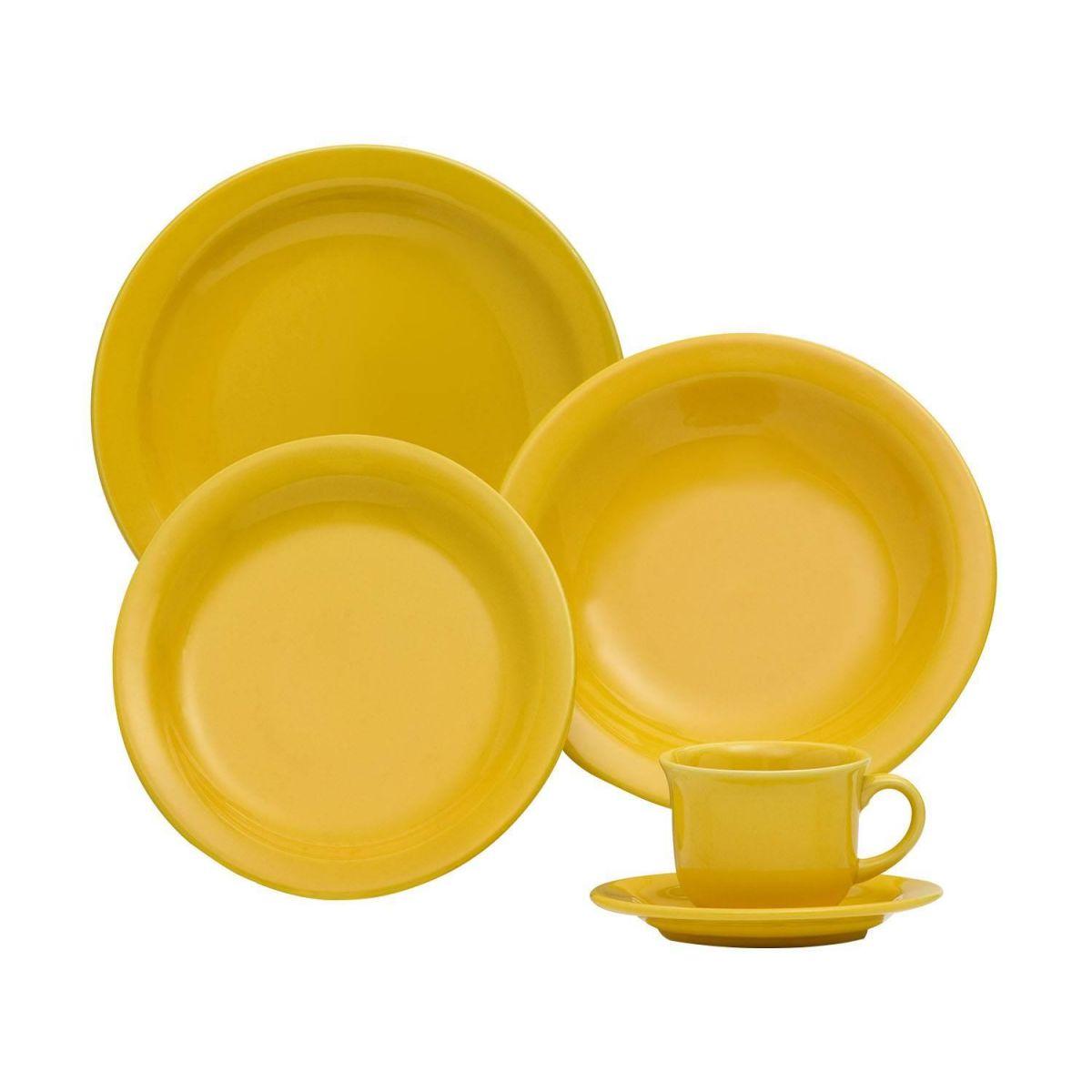 Prato Sobremesa 20cm Daily Floreal Yellow Oxford