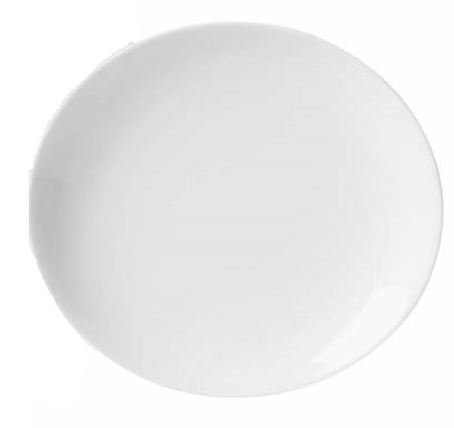 Prato Sobremesa 21cm Loop White Oxford