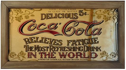 Quadro Coca Cola Delicious 25x45cm Vintage Concept