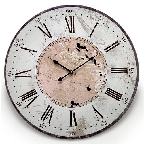 Relógio de Parede Branco Linha Romanus Mabruk
