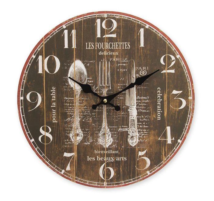 Relógio de parede Kitchen 34cm MDF Hauskraft