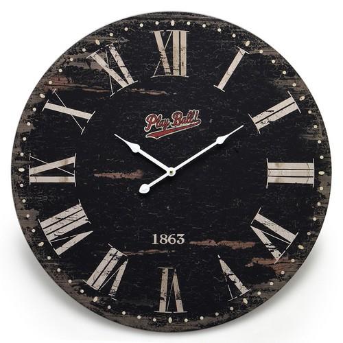 Relógio de Parede Preto Linha Romanus Mabruk