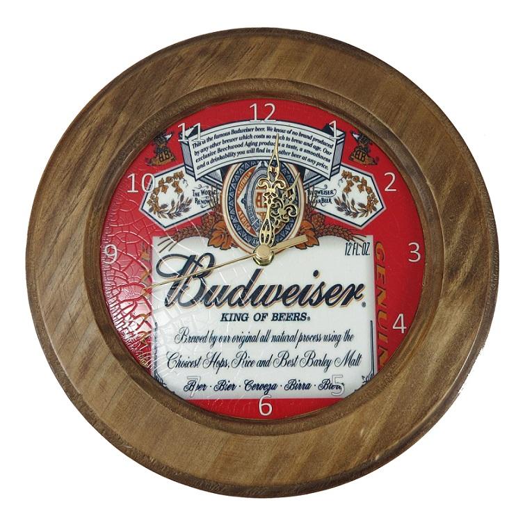 Relógio Decorativo Budweiser Vintage Concept