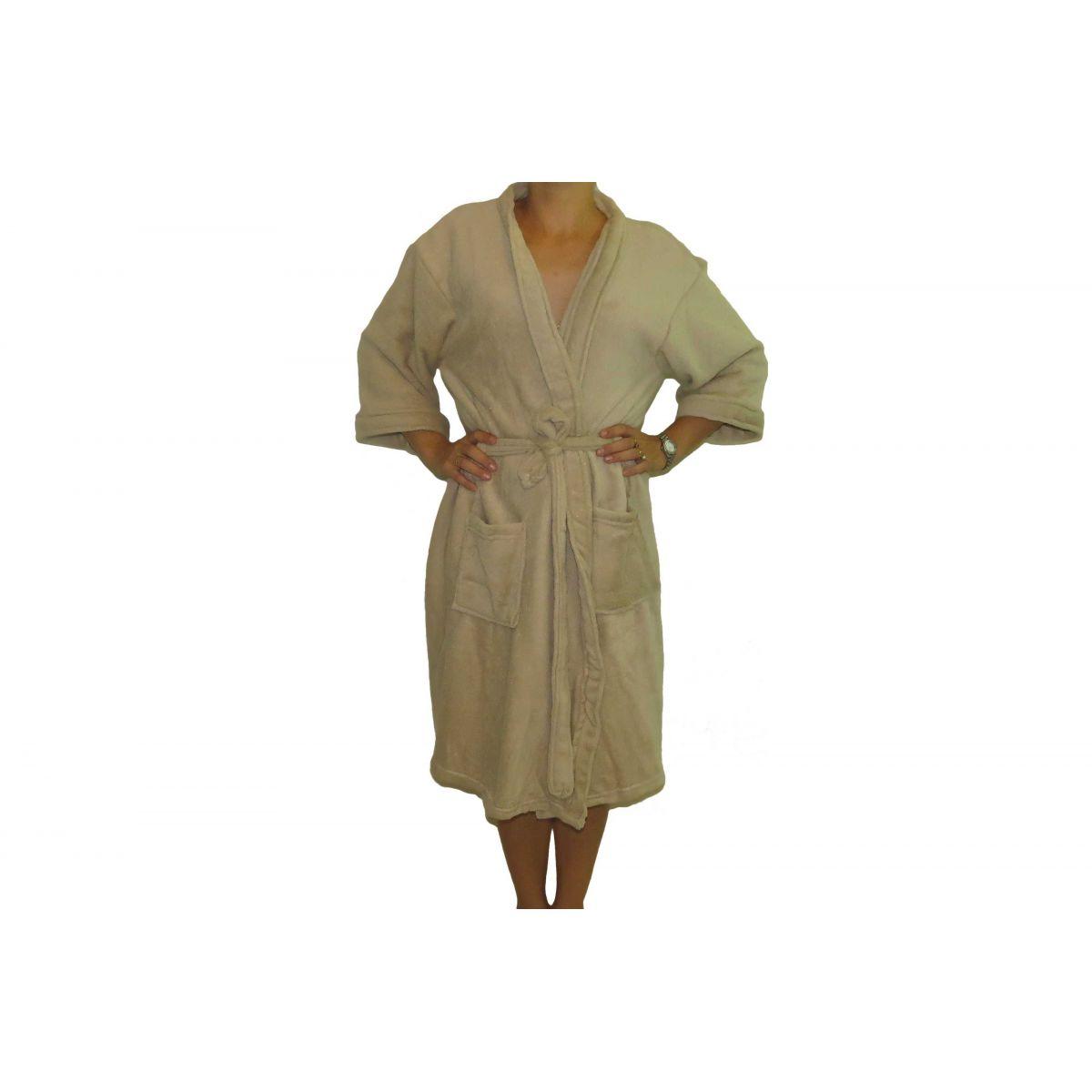 Roupão Microfibra Sofisticata Kimono Cru GG Atlântica