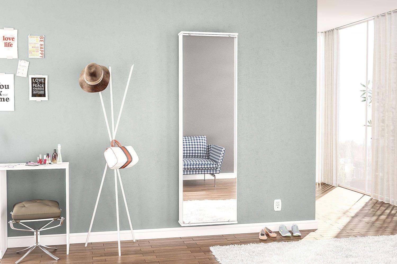 Sapateira Suspensa Branca Com Espelho Itabuna Politorno