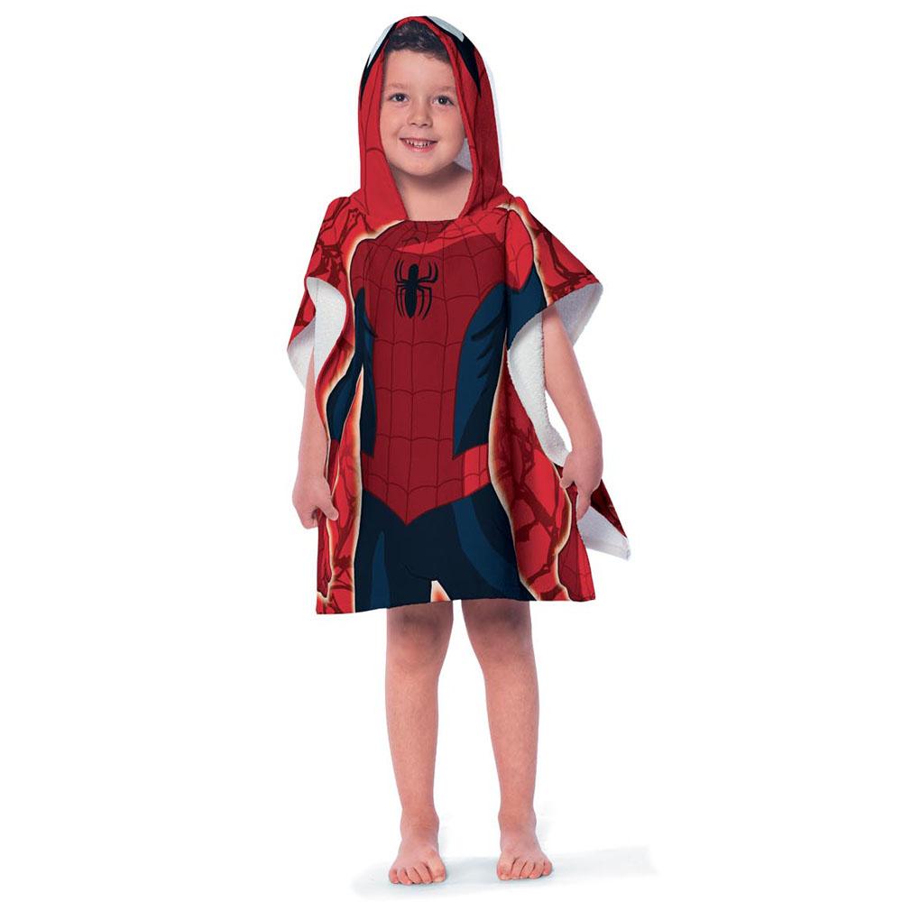 Toalha Infantil Estampada Com Capuz 50x110cm Homem Aranha Lepper
