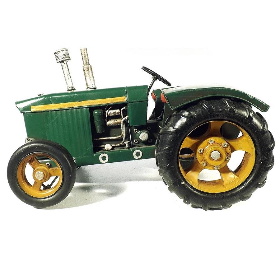 Trator Miniatura Grande Metal Verde Goods