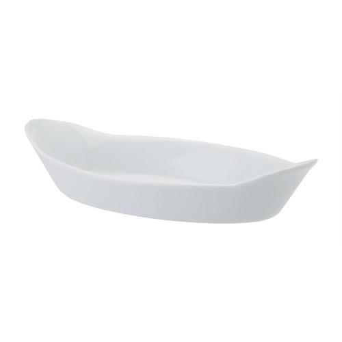 Travessa Oval Alça 20 Linha Calorama Branco Porcelana Schmidt