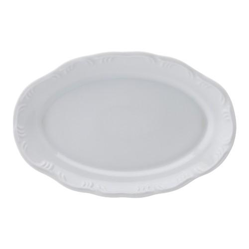 Travessa Rasa 28 Linha Pomerode Branco Porcelana Schmidt