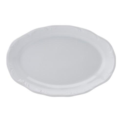 Travessa Rasa 36 Linha Pomerode Branco Porcelana Schmidt