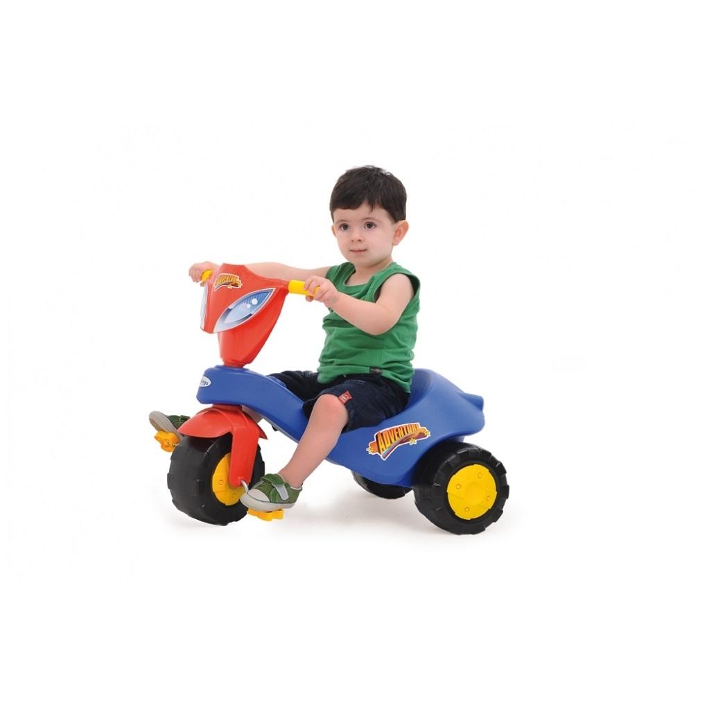 Triciclo Adventure Azul Xalingo