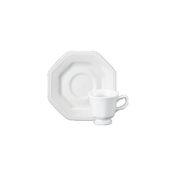 Xícara Cafezinho 8 Linha Prisma Branco Porcelana Schmidt