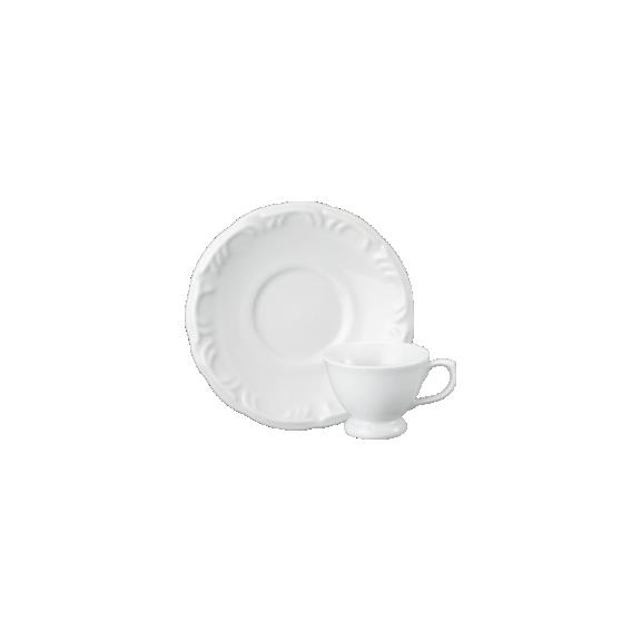 Xícara Cafezinho Com Pé Pires Pomerode Branco Porcelana Schmidt